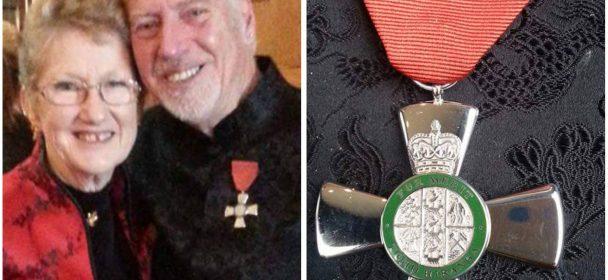 Deaf Referee Peter Murray receives Order of Merit badge